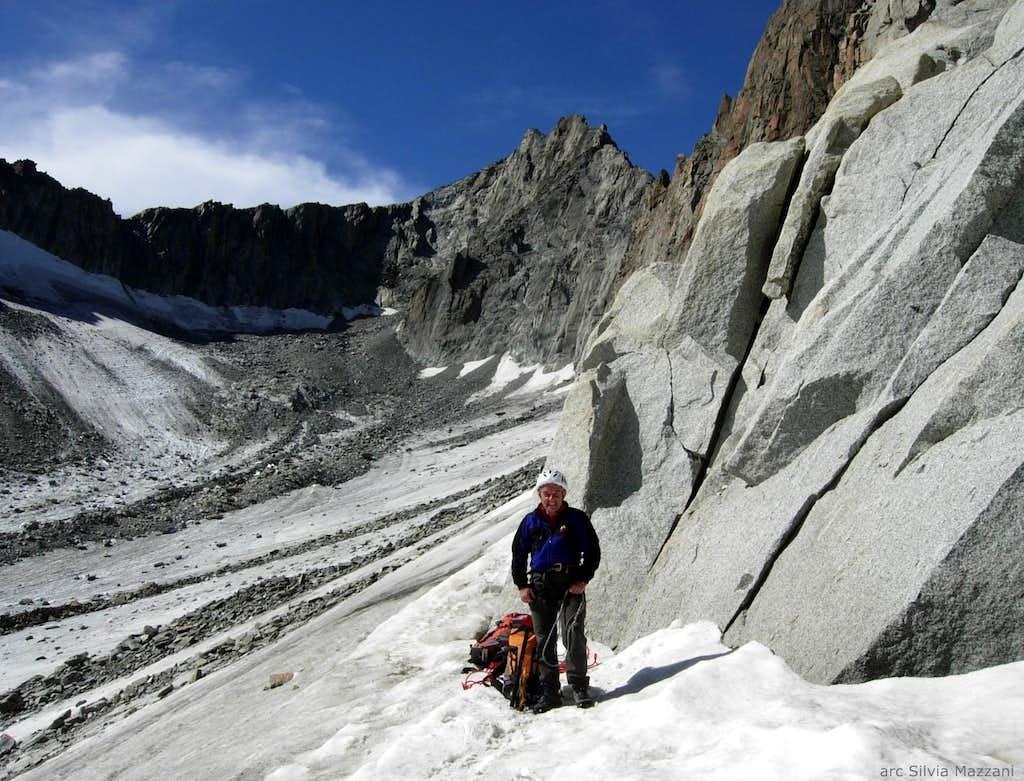 Enfer Doux climbing start, Gletschhorn Spur