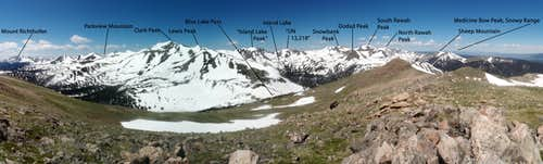 Cameron Peak Summit Panorama