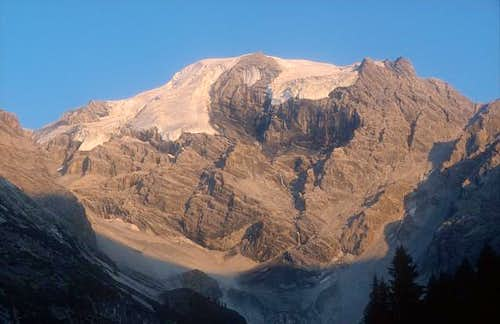 Ortler at sunset.