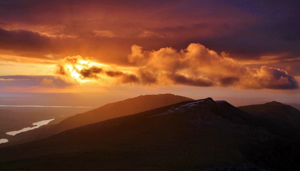 Sunset from Glyder Fawr