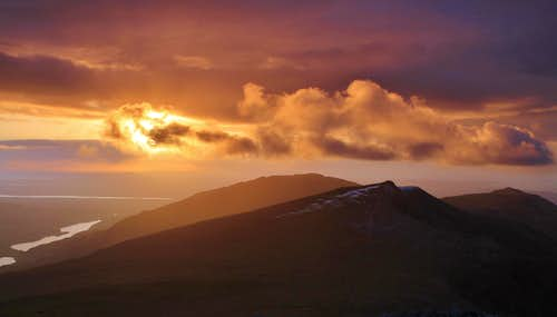 Sunset from Glyder Fawr