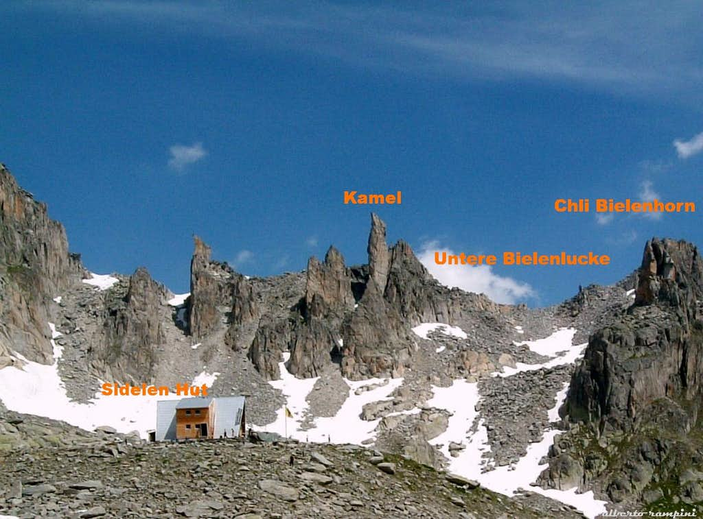 Chli Bielenhorn, the descent's side