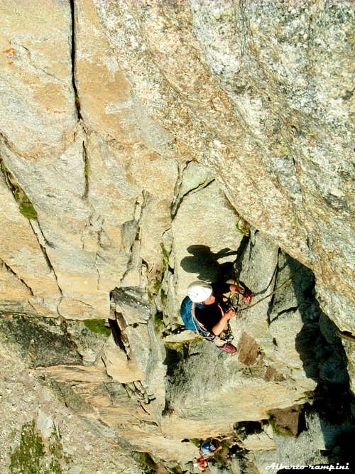Belay on Perrenoud route