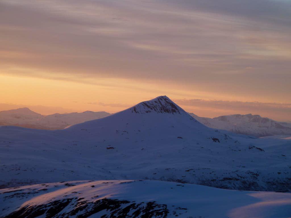 Tromsdalstind seen from Gorzelvtind