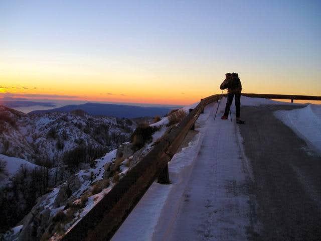 sunset on biokovo road
