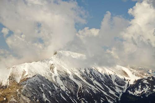 Clouds over Silverheels Mt.