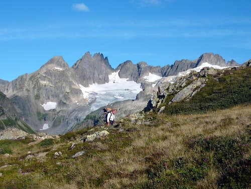 On the trail to Sewen Hut
