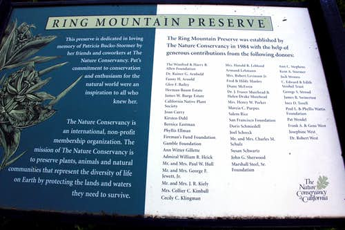 About Ring Mtn. Preserve