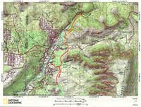 Map of Margs Draw & Huckaby Trails