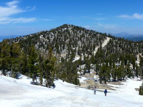 Looking back at East Peak on the way to Monument Peak