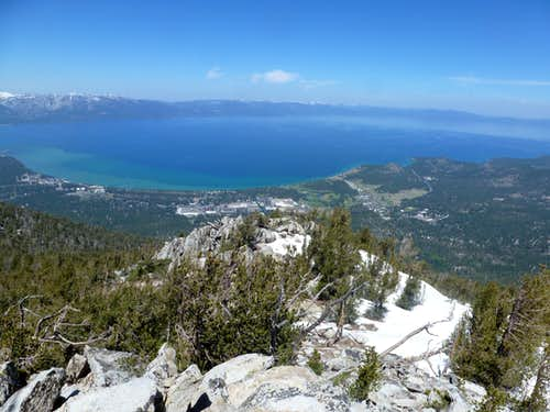 View of Lake Tahoe from East Peak