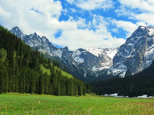 Three valleys in Polish Tatras