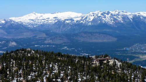 View of the high peaks in the Desolation Wilderness from East Peak