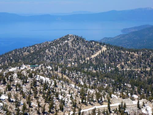 East Peak and Lake Tahoe
