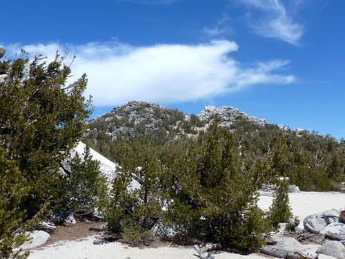 Heading to the south face of Monument Peak