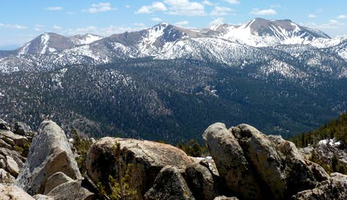 View of Freel Peak and neighbors from Monument Peak 10,067\'