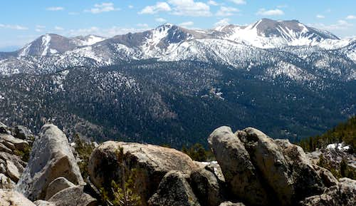 View of Freel Peak and neighbors from Monument Peak 10,067'
