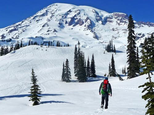 Approaching Mount Rainier
