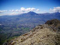 Cotacachi from summit Imbabura