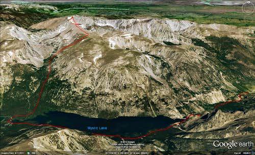 Mount Wood Southwest Drainage Route