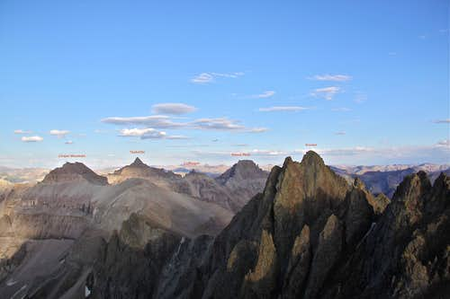 Orientation as seen from slopes of Mt. Sneffels