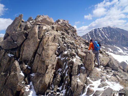 Southwest Ridge in Lean Spring Snow