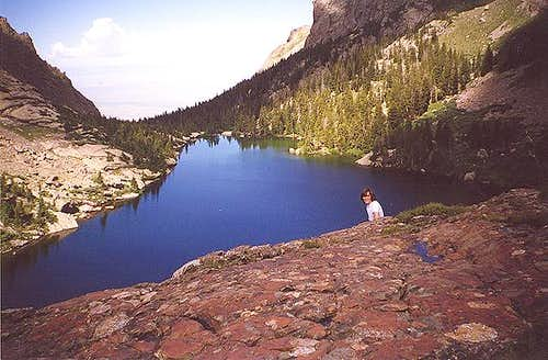 Looking down at Willow Lake...