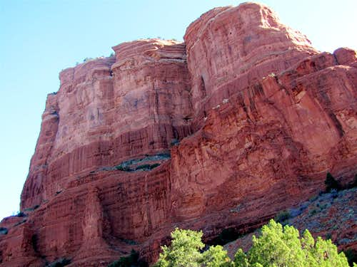 Courthouse Butte, SW face
