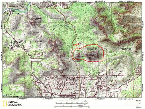 Map of Courthouse Butte/Bell Rock Loop Trail