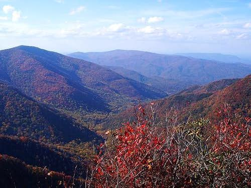 Chimney Tops summit autumn