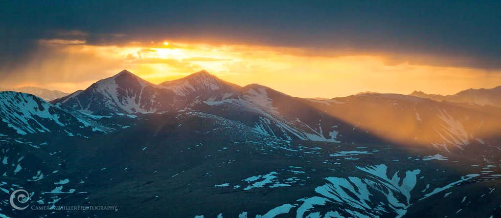 Sunset Over Grays and Torreys