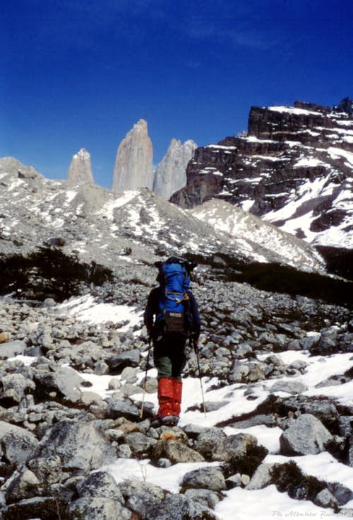 Toward Torres del Paine Base Camp
