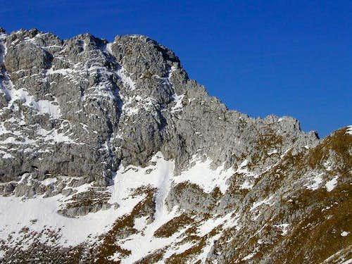 The NE ridge of Tosc is very...