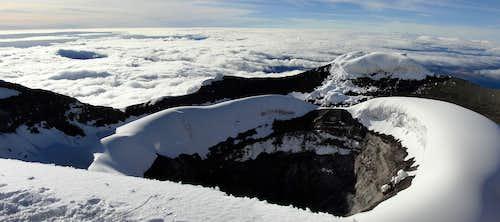 Cotopaxi crater panorama