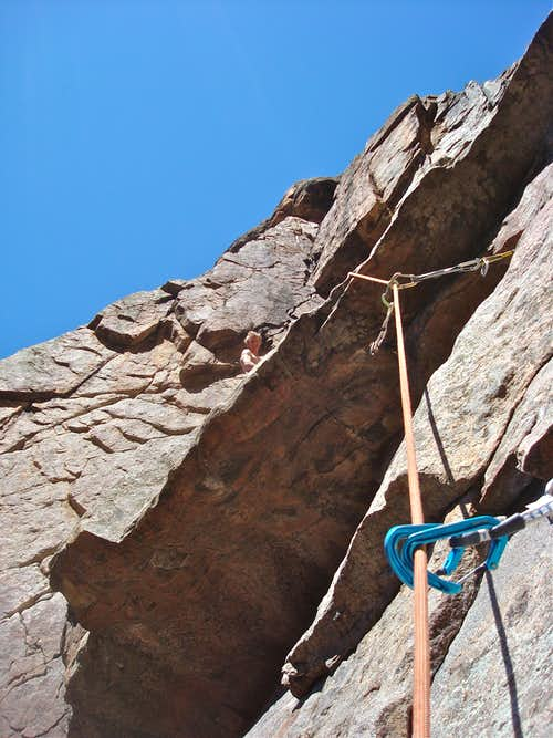 Crux of the climb
