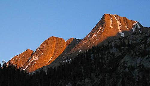 The Trinity Peaks at sunset...
