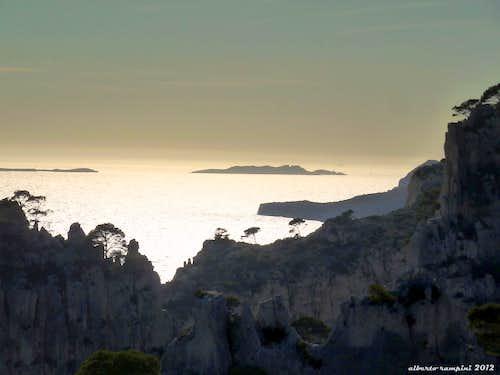 Sunset over Breche de Castelvieil, Calanques
