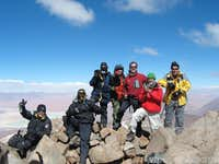 Summit of Sairecabur. 6006m.