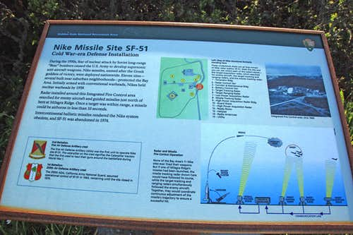 Nike Missile site info sign