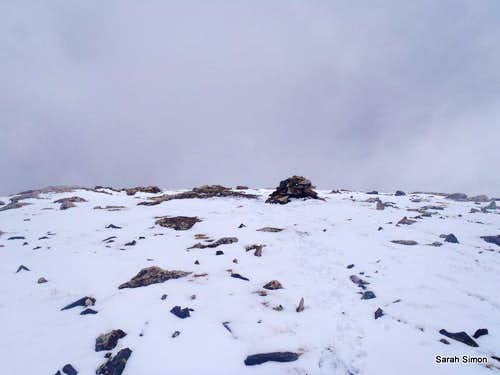 Summit cairn in view!