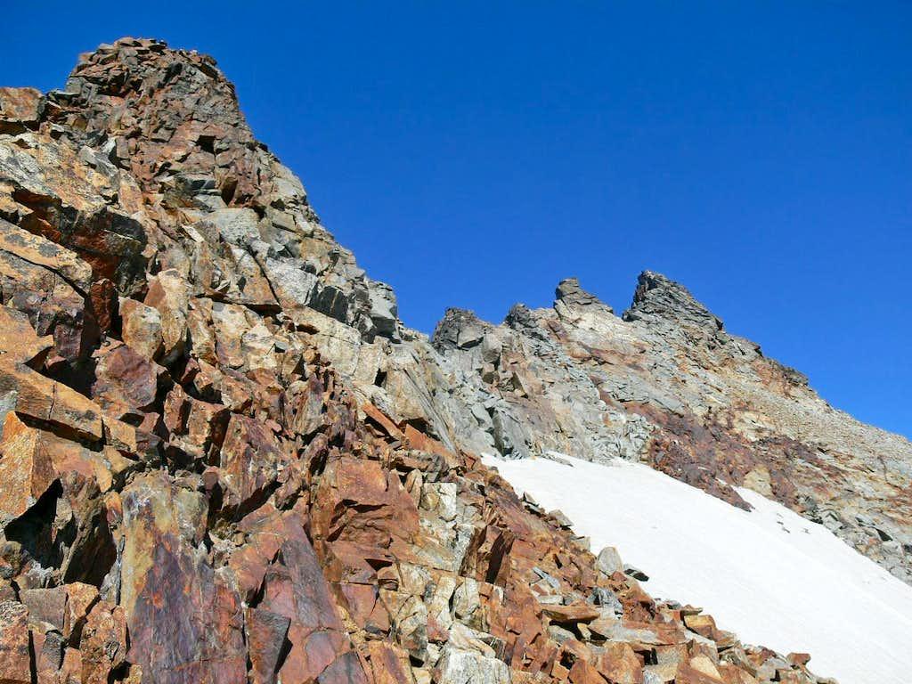 The upper Southwest Ridge