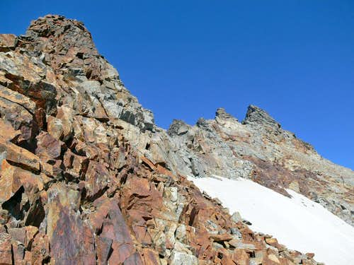 The upper Southwest Ridge