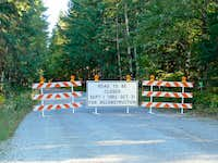 Road Closure for the Cascade Valley