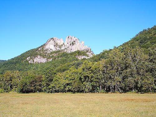 Seneca Rocks from visitor center