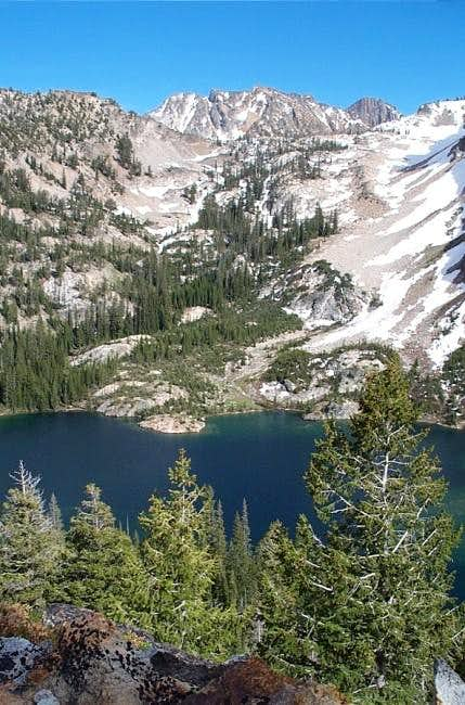 Alpine Lake from the trail to...