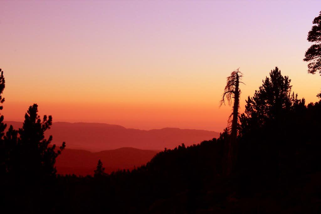 Sunset at the saddle