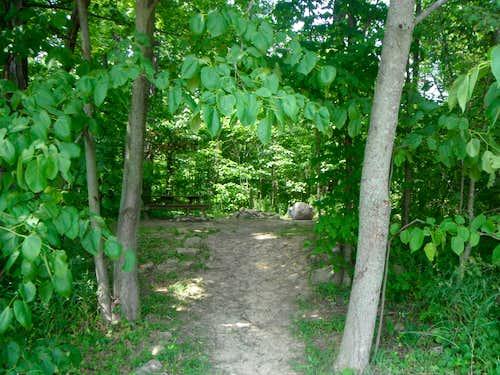Trailhead to Hoosier Hill
