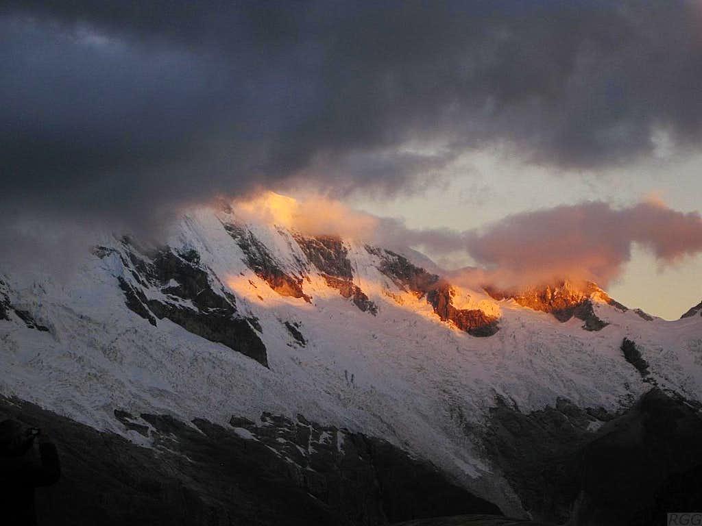 Alpenglow on Chopicalqui