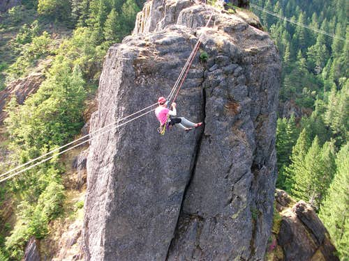 Old Man/Old Woman Tyrolean Traverse