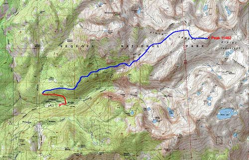 Map of My Horse Creek Route